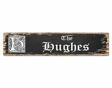SP0689 The HUGHES Family name Sign Bar Store Shop Cafe Home Chic Decor Gift