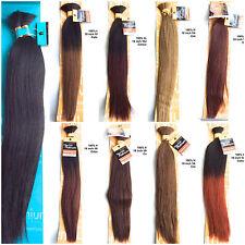 100% HUMAN HAIR BULK- 18 inch YAKI PLATINUM and NATURAL Made by SENSATIONNEL