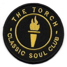 "NORTHERN SOUL ""THE TORCH"" -  Embroidered Iron Sew On Patch Badge - HIGH QUALITY"