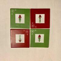 2006 Starbucks Christmas Holiday Ceramic Coasters...Set of 4