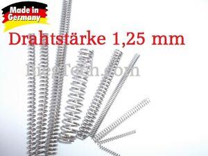 Druckfeder,Feder, Federstahl DIN 10270-3 Nichtrostender Edelstahldraht  1,25 mm