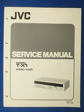 JVC T-X1 TUNER SERVICE MANUAL ORIGINAL FACTORY ISSUE ORIGINAL THE REAL THING