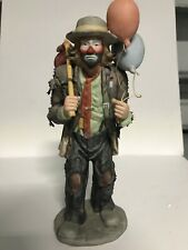 Emmett Kelly Jr.  Balloons for Sale  Figurine By Flambro, made in Taiwan 11in