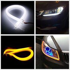 2x60cm Car Switchback Headlight Tube LED Strip DRL Daytime Light  w/ Turn Signal