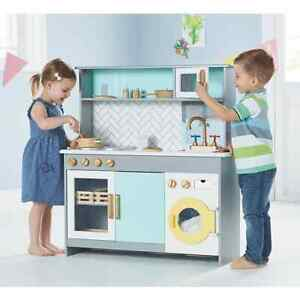 George Home Wooden Kitchen with Washing Machine (Triple Kitchen)