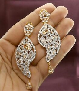 Cubic Zirconia Exclusive Champagne Stone Earrings  14 ME 26