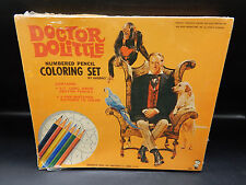 1967 vintage Doctor Dolittle color by numbers set Hasbro Sealed toy Rare apjac !