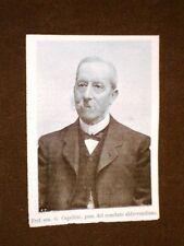 Professore Senatore Capellini Presidente del Comitato pro Ulisse Aldrovandi 1907