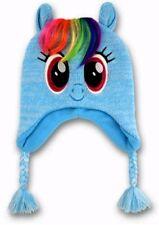 8817b5dd99b Hasbro MY LITTLE PONY Blue Fleece Lined Peruvian Hat - Youth Girls OSFM -  NWT