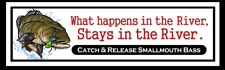 Catch and Release Smallmouth Bass Fishing Sticker Decal