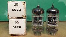 Pair of GE JG 6072 Triple Mica Black Plate Vacuum Tubes - Same 1962 Dates
