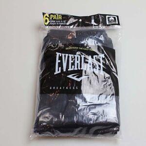 Everlast Men's 6pk Over the Calf Tube Socks Black Solid Color