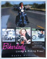 BIKERLADY LIVING RIDING FREE MOTORCYCLE BOOK HARLEY DAVIDSON INDIAN BIKER CLUB