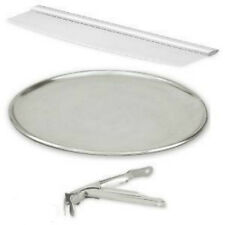 Pizza Set 3 x 300mm Pizza Pan Tray ,Pizza Cutter,Pizza Pan Gripper