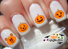 Pumpkin Nail Art Stickers Transfers Decals Set of 50