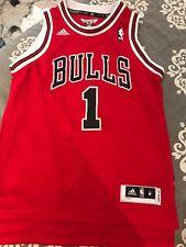 BOYS BASKETBALL JERSEY AUTHENTIC  DEREK ROSE BULLS M ADIDAS
