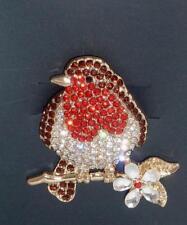 Broche Diamante impresionantes Robin Rojo Mama Regalo Para Mamá Hermana Tía Nan
