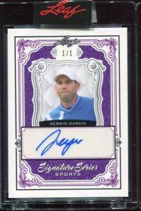 2021 Leaf Signatures Series Sports Sergio Garcia Purple Auto Autograph #'d 1/1