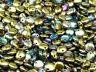 CHOOSE COLOR! 50pcs 6mm Lentil Beads Czech Pressed Glass