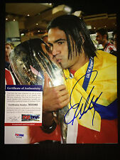 Radamel Falcao Signed/Auto 8x10 Photo Columbia Naional Team, AC Monaco PSA #3