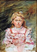 Marthe BOYER-BRETON, Portrait de jeune fille, Duthy, Tableau, Peinture, enfant