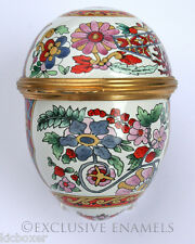Halcyon Days Enamels Imari Design Enamel Egg