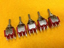 5pcs NEW Mini toggle switch ON-OFF-ON 6 pin 240V 2A 2 way DPDT 125V 6A