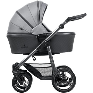 Venicci Carbo Lux Stroller with Bassinet - Natural Grey/Graphite Frame