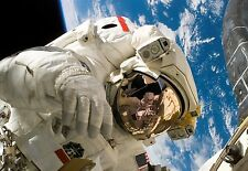 """Spaceman, Astronaut in Space Large Canvas Picture Wall Art 30"""" x 20"""""""
