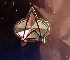 Vintage Star Trek Next Gen Communicator Hologram Pin- Silver (Stjw-Ah-06)