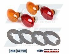 99-10 Genuine Ford OEM Dually Fender Marker Lamp / Light Amber Red & Retainers