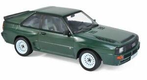 NOREV 188317 AUDI SPORT QUATTRO diecast model road car dark green 1985 1:18th