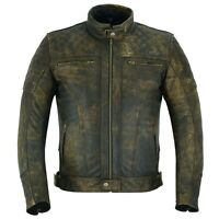 ARN® Vintage Leather Motorbike Motorcycle Jacket Touring With Genuine CE Armour