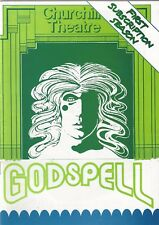 "Stephen Schwartz ""GODSPELL"" Tim Swinton / Paul Burton 1980 London Playbill"