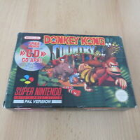 SNES  DONKEY KONG COUNTRY nintendo  PAL  BOXED