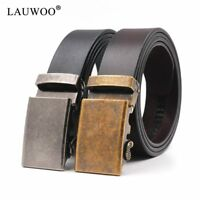 Men's Genuine Leather Ratchet Click Dress Belt With Automatic Buckle