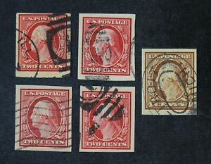 CKStamps: US Stamps Collection Scott#344 346 Washington Used