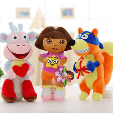 3pcs/set 25cm Dore the Explorer, monkey Boots, Swiper and Dora dolls Plush Toys