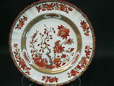 "1 Copeland Spode China Indian Tree Orange Rust Luncheon Plate ~ 8 7/8""~ England"