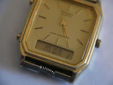 NICE WORKING Seiko Vintage Mens Quartz Watch H449-5210 ALARM CHRONOGRAPH WATCH