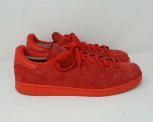 Adidas Originals Stan Smith Low Top Suede Sneakers Red US Men's 12