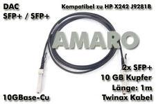 HP X242 J9281B komp. SFP+ SFP+ 10G DAC Twinax Copper Kabel 1m