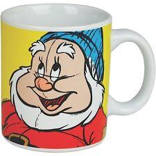 HAPPY MUG RETRO CERAMIC TEA COFFEE CUP GIFT OFFICIAL SNOW WHITE 7 DWARFS DISNEY