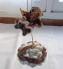Boyds Bear Above The Clouds Angel Ornament + Stand Base