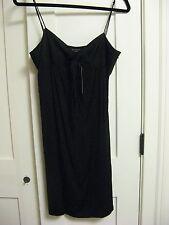 NWT THEORY  LITTLE BLACK DRESS ADJUSTABLE SPAGHETTI STRAP DRESS  SIZE 10    $295