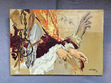 """Peinture / collage contemporain  """"Les mains """" de Joël BLANC"""