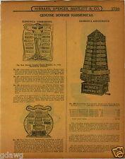 1915 PAPER AD 6 PG Hohner Sore Display Harmonica Cabinet Drum Major Hotz Echo
