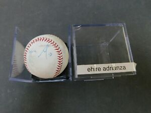 EHIRE ADRIANZA Autographed MLB Baseball. Signed at spring training 2017