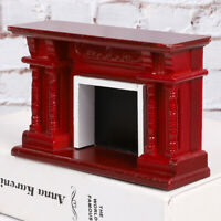 1:12 Vintage Doll House Miniature Furniture Fireplace Wooden Accessories