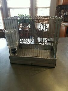 Vintage Metal Hendryx Gerbil/mouse Critter Cage,Excercise Wheel & glass feeder